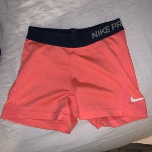 Peach Nike pros (only worn once)